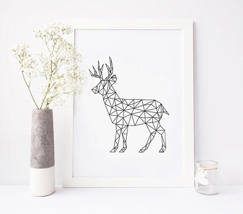 Designový plakát / Animal JELEN