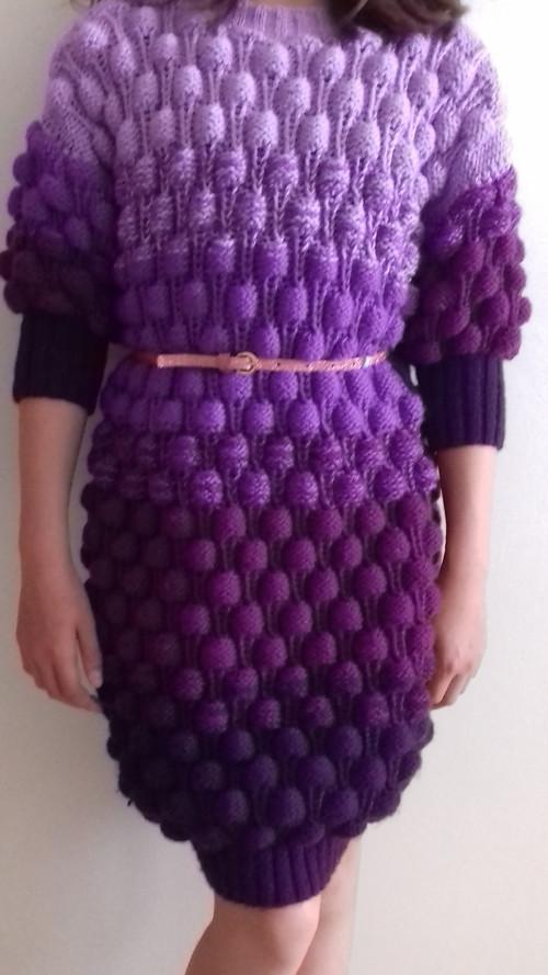 "Pletene šaty/dlouhy svetr \""Maliny\"""