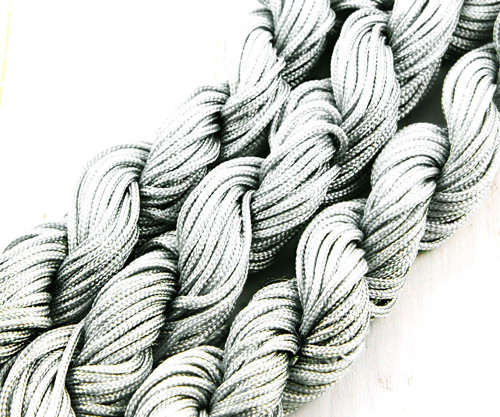 18m 57ft 19yrd Stříbrná Šedá Nylon Kabel Twisted P