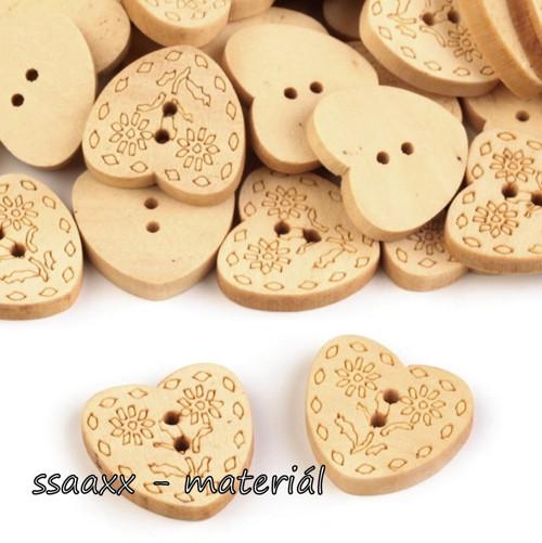 Dřevěné srdíčko ~ 20 mm ~ 2 ks