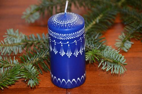 Svíčka modro-bílá
