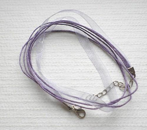 Šňůrka 1+3 - fialová - 1ks