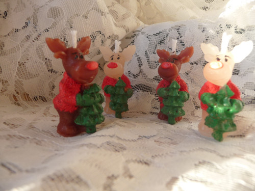 Svíčka - 3D Vánoční sobík mini