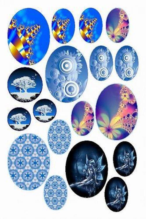 Mix motivů modrých (vzor 13)