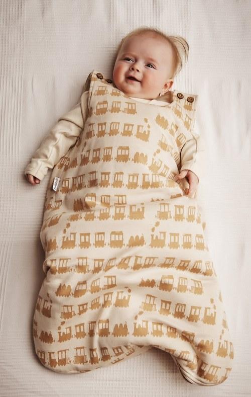 Zateplený spací pytel z BIOBAVLNY motiv slůňata