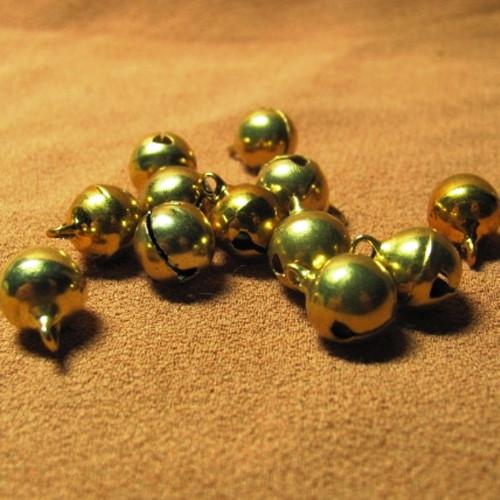 rolničky ve zlaté barvě - 12 kusů