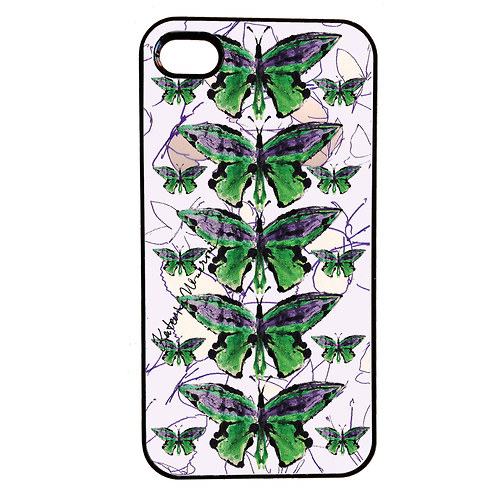 MOTYL VE FIALOVE -  iPhone 4/4S Obal