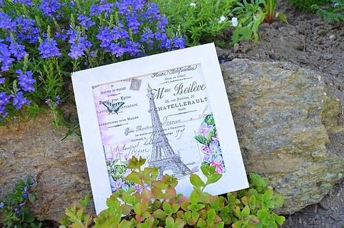Obrázek - květinová Paříž