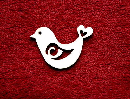 2D výřez ptáček - v.4x5,3cm