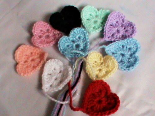barevná srdíčka-sada-10 kusů