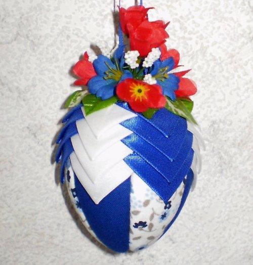 Artyčokové vajíčko - modro-bílé-malé