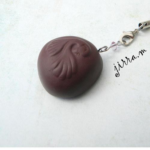 Přívěsek bonbon & Swarovski