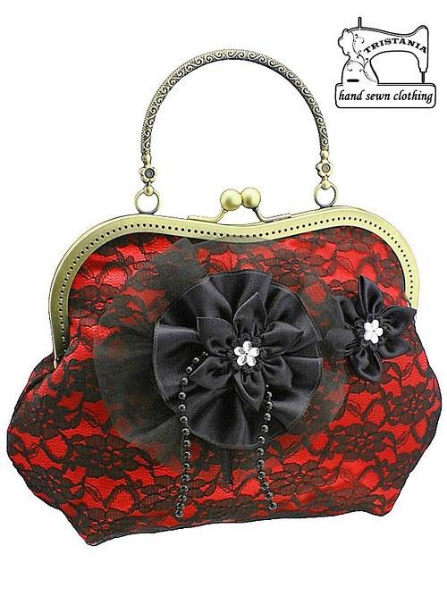 Dámská společenská kabelka červená   0980A