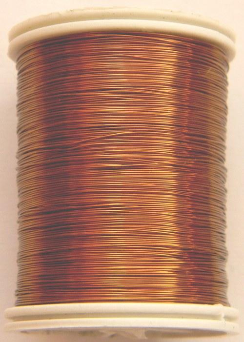 Měděný lakovaný drát 0,3 mm světle-hnědý