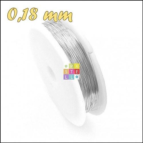 (0316) Drôtik 0,18 mm - návin 20 metrov