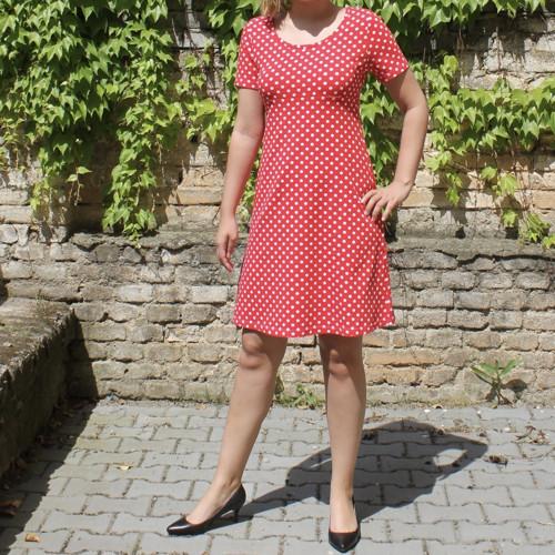 Šaty - kolekce LIVA - vel. S - letní verze Dots