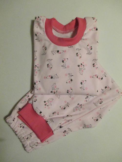 dětské pyžamo - pejsek na růžové