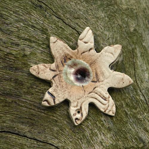 Květina s taveným sklem - komponent