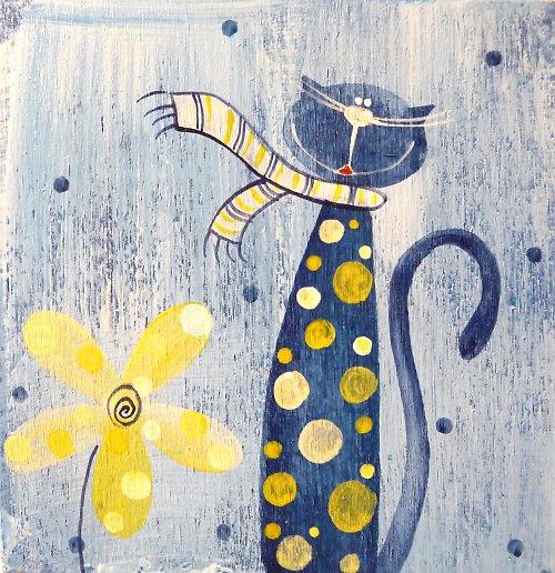 krabička modrá - kocour Belmondo