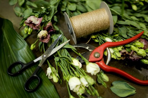 Sušené květiny a exotická aranžmá