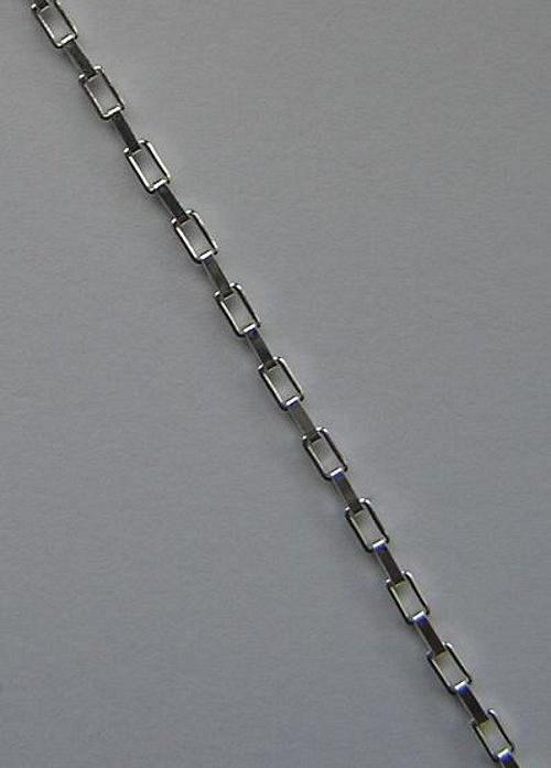 Stříbrný řetízek - hranatý - 40cm