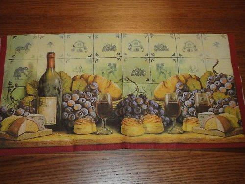 Ubrousek na decoupage - víno