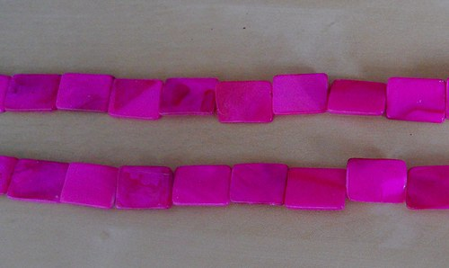 Perleťové obdélníky velké  růžové - 4 ks