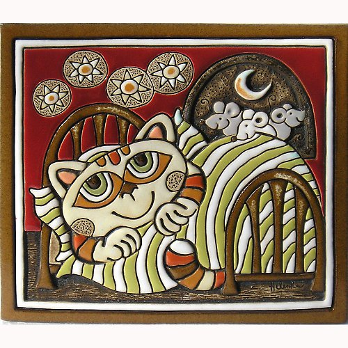 Kočka v peřině a myši K-102-CE