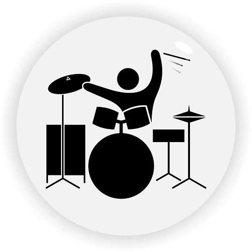 Bubeník černobílý