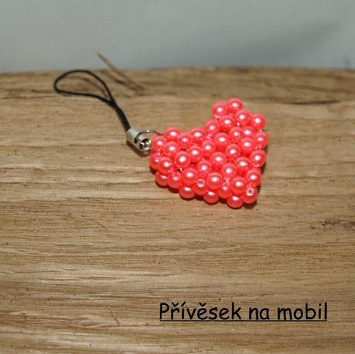Přívěsek na mobil Rose neon Heart