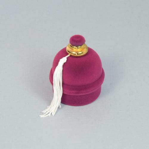 Sametová krabička - fialový flakón