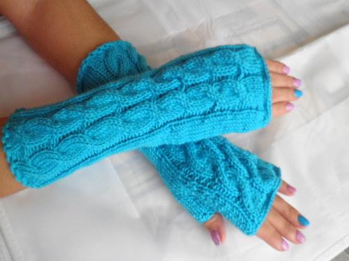 návleky na ruce tyrkysové