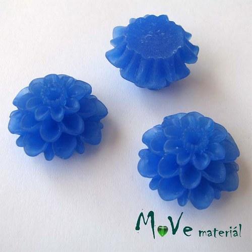 Kabošon květ transparent A5- resin - 2ks, tm.modrý