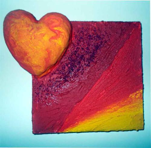 Plastický obraz - Srdce 1