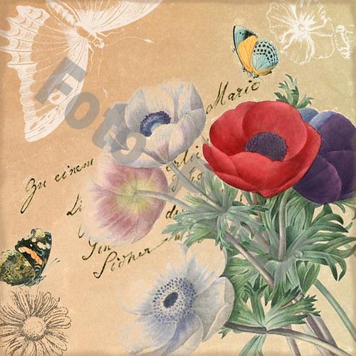 Vintage motiv - květiny