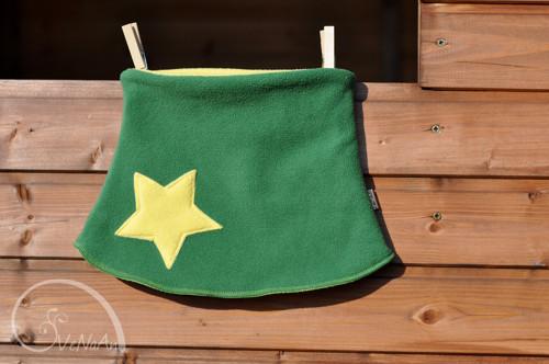 Hvězdný nákrčník zeleno-žlutý