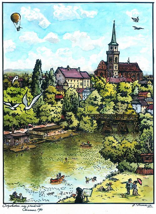 jan Severa - Odpoledne na plovárně - červenec 1910
