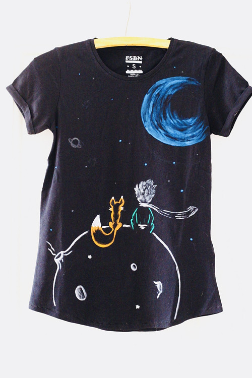 Malý princ - Malovane triko