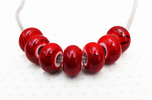 """Akrylové korálky \"""" červené\"""" 2 ks"""