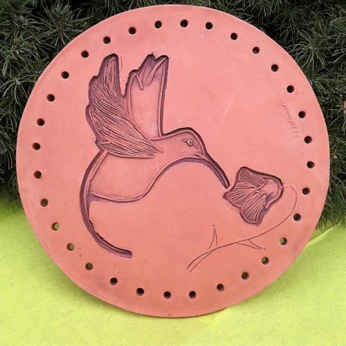 Keramické dno k opletu-kolibřík