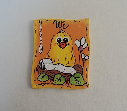 cedulka na dveře-ptáček-wc