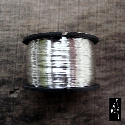 Postříbřený drát 0,6, cívka 20 m