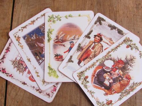 Vánoční pohlednice staročeské - sada č. 3