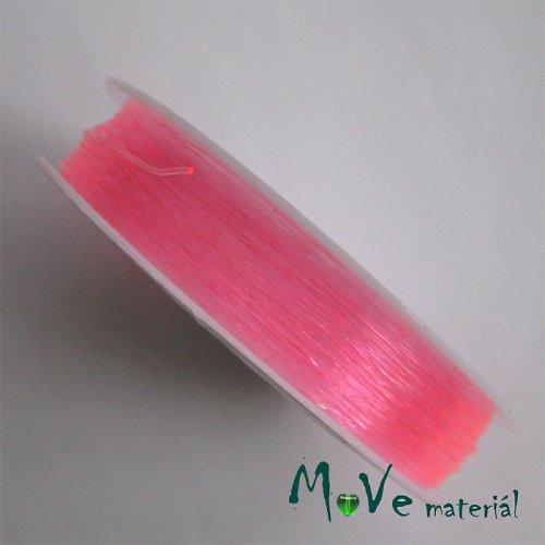 Vlasec silikon elastický 0,6mm návin 18m růžový