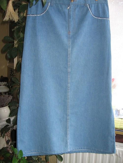 Džínová sukně pas 91 cm