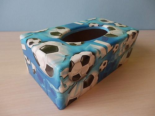 Krabička na kapesníky Fotbal