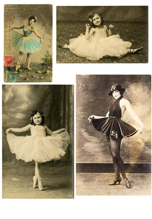 Nažehlovačky Vintage Balerina
