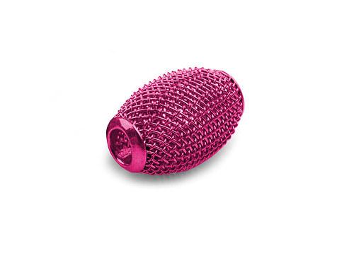 9001093/Drátkovaný korálek široký, růžový, 1 ks