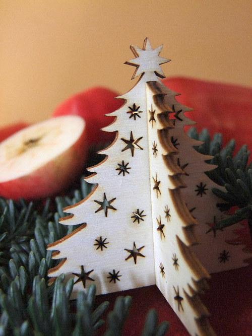 Vánoční strom, stromeček - HVĚZDY, HVĚZDIČKY 7 cm