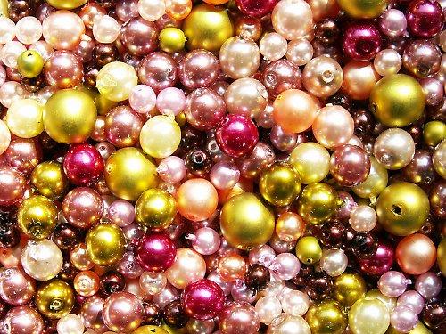 Voskové perle - růžovoolivová směs